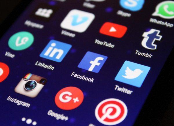 Social media phone screen