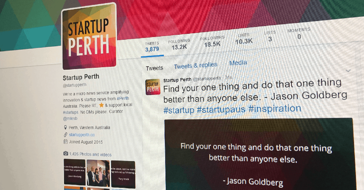 @StartupPerth on Twitter