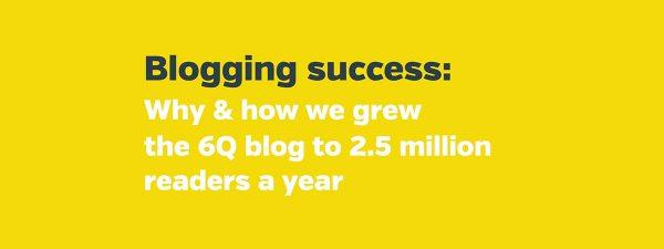 Successful blogging: the three P's