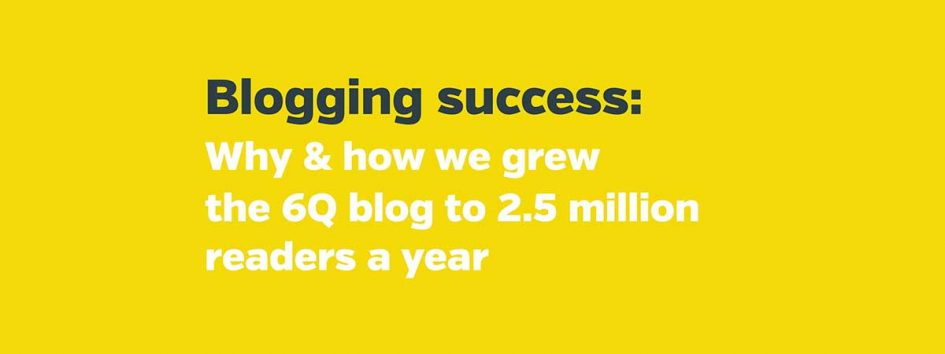Successful blogging: the three P's