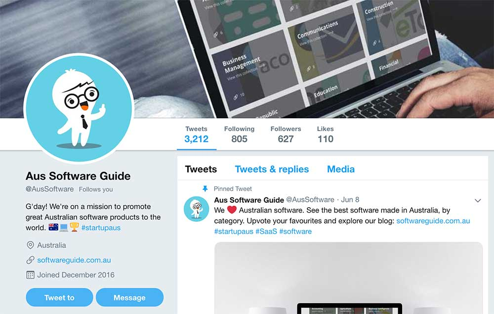 Software Guide on Twitter