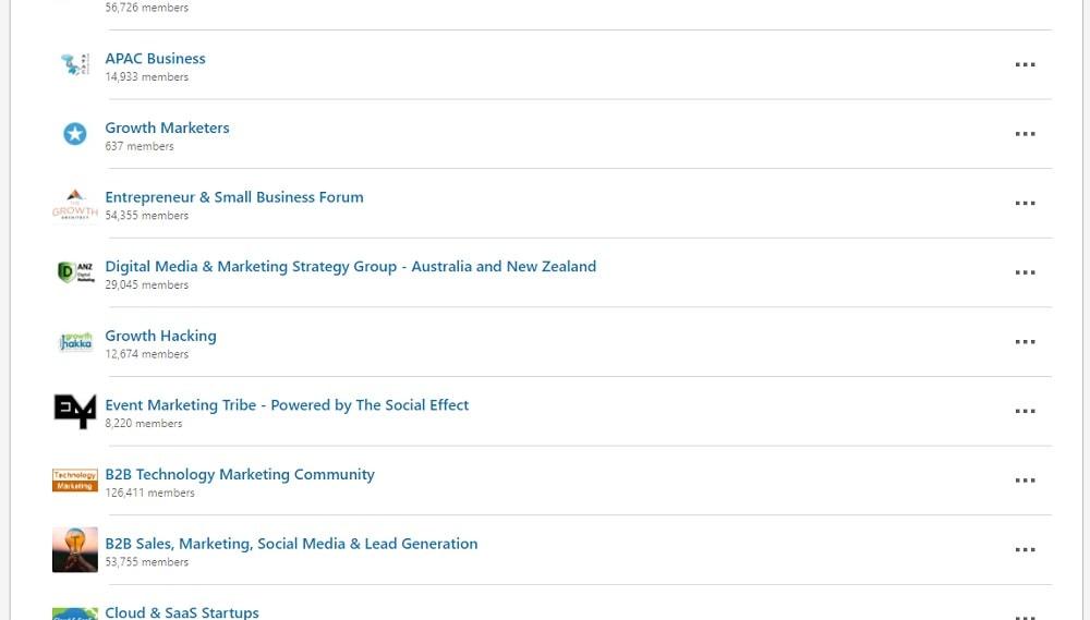 LinkedIn Groups for blog promotion
