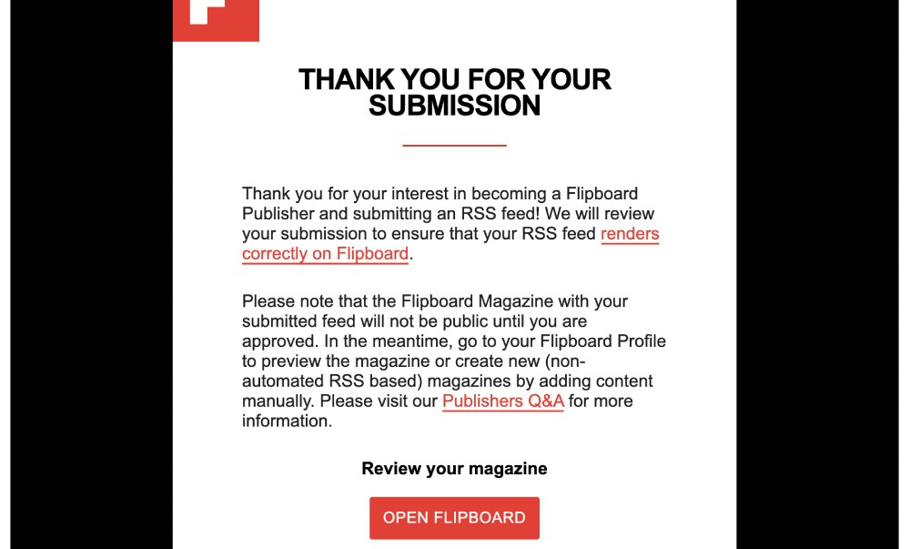 Promote a blog post with Flipboard