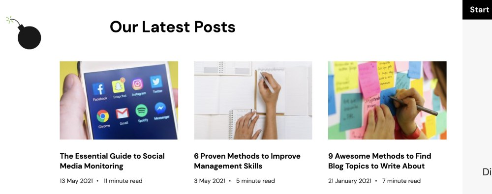 Promote blog posts on your website homepage